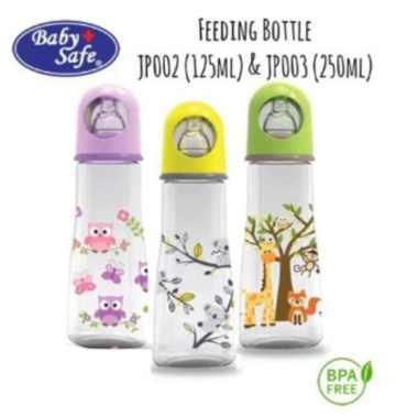 harga Jual Baby Safe JP003 Feeding Bottle 250ml Purple Botol Susu Bayi Babysafe Berkualitas Blibli.com