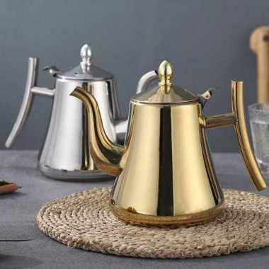 harga VRS One Two Cups Teko Air Teh Kopi Water Teapot 1.2L with Filter HS4012 Gold Blibli.com