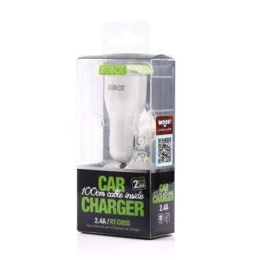 Vivan Car Charger Robot RT-C05 2 Output 2.1A-1A