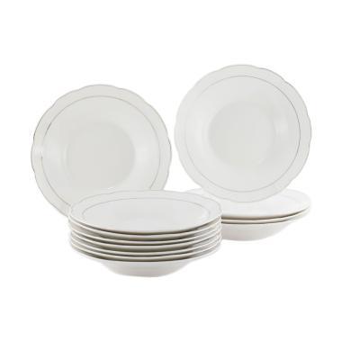 harga Vicenza DP9 Gold Line Dinner Plate Set Piring Makan [9 Inch/1 Lusin] Blibli.com