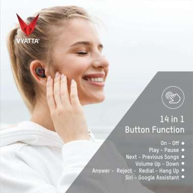 harga UZ094 VYATTA Airboom Nano TWS Bluetooth Earphone-Super Mini 14in1 Func Multicolor Blibli.com