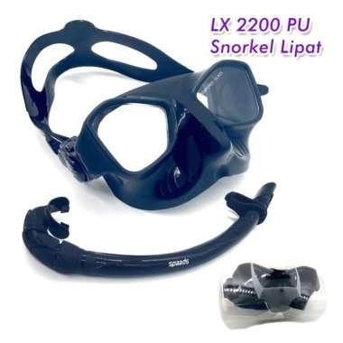 harga Jual Set Alat Selam Snorkel Snorkling Diving Snorkle Elastis Tas Pu Lx 2200 - Hitam Multicolor Blibli.com