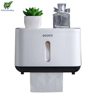 harga ECOCO E1807 Kotak Tisu Toilet Paper Box Dispenser White Black Blibli.com