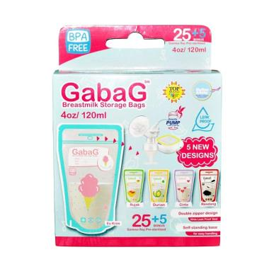 Gabag Breastmilk Storage Bags Mix Designs Kantong Asi [120 mL]
