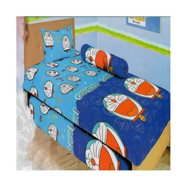 Lady Rose Doraemon Set Sprei - Blue [120 x 200 cm]