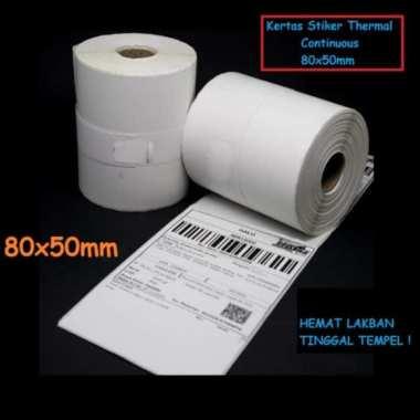 harga Unik Kertas Stiker Label Printer Thermal 80x50mm Continuous 80 x 50mm Diskon Blibli.com