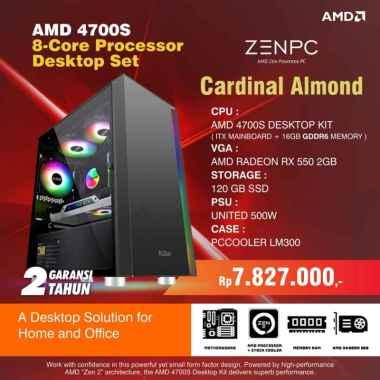harga Zen PC Cardinal Almond (AMD 4700S Desktop Kit, RX 550 2GB, SSD 128GB) Blibli.com