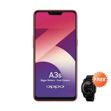 harga OPPO A3S Smartphone [32GB/ 3GB] + Free Skmei 1142A Jam Tangan Blibli.com