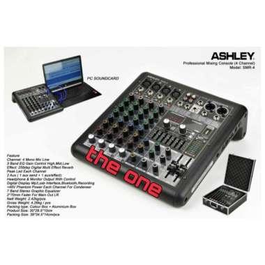 harga MIXER AUDIO ASHLEY SMR 4-SMR4 4 CHANNE(USB BLUETOOTH RECORDING) MULTICOLOUR Blibli.com