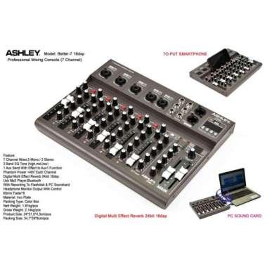 harga MIXER AUDIO ASHLEY BETTER 7 USB PLAY MUSIK MULTICOLOUR Blibli.com