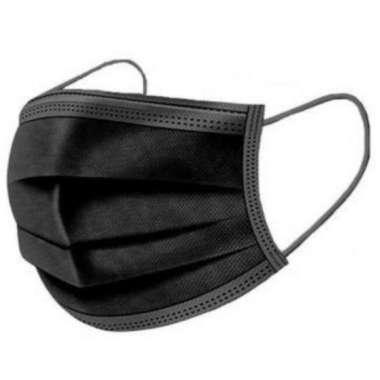 harga Masker Wajah 3PLY 1 Box Isi 50pcs  / Face Mask Tidak Tembus Air Murah Grosir Hitam Blibli.com