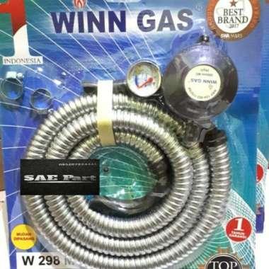 harga SPECIAL WINN GAS Paket Regulator Selang 1,8 Flexible-Flex Pengaman Body Besar Blibli.com