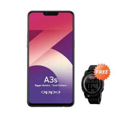 OPPO A3S Smartphone [16GB/ 2GB] + Free SKMEI 1142A Jam