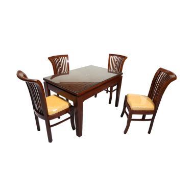 Simpati Meja Makan Keranjang dan 4 Kursi [Khusus Jabodetabek]