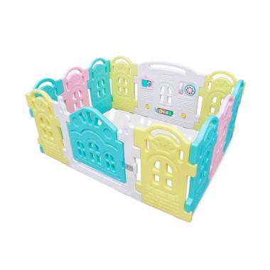 Parklon Fence Magic Castle Pagar Pengaman Bayi Mix Color 102 Pcs
