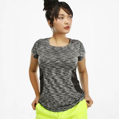 harga N.Y.L Active Slim Fit O Neck Stripe Women's Tee Baju Olahraga Wanita [03NYLT00040] Blibli.com