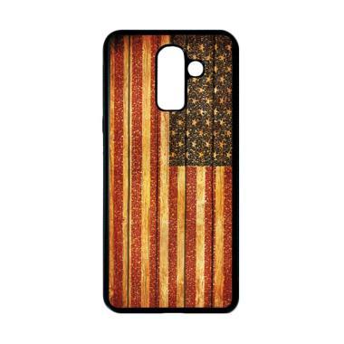 harga HEAVENCASE Motif Bendera Amerika 14 Casing for Samsung Galaxy J8 - Hitam Blibli.com