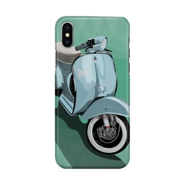 harga Indocustomcase Vespa Green Cover Hardcase Casing for iPhone X Blibli.com