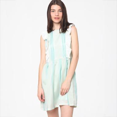 harga Heart and Feel 1393.D Stripe Printed Dress - Soft Blue Blibli.com