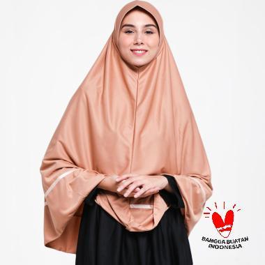Rizky Collection by Raniah Pita Tengah Bergo Hijab Syar'i - Coklat Sedang