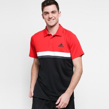 adidas Men Tennis Club Color Block Polo Shirt Pakaian Pria [CE1421]