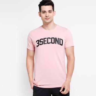 3SECOND Men T-Shirt Pria - Pink [172051812]