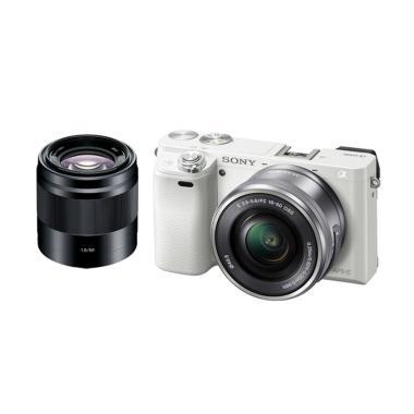 Sony A6000 Kit 16-50mm + Sony E 50mm f/1.8 OSS jpckemang GARANSI RESMI