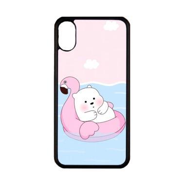 harga Bunnycase Cute Polar Bear Summer LI0215 Custom Hardcase Casing for iPhone X Blibli.com