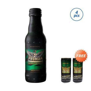 harga Buy 4 PROMAN Green Spirit Minuman Stamina [Botol @200 mL] Get Free 2 Kaleng [250 mL] Blibli.com