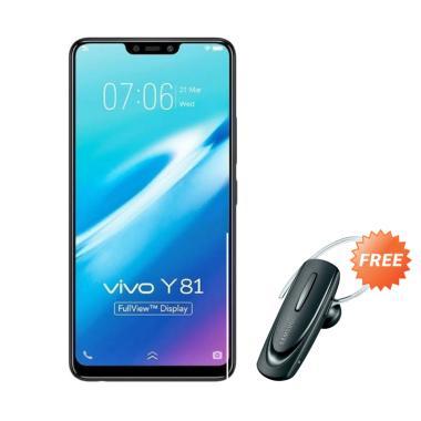 harga VIVO Y81 Smartphone - Black [16GB/ 3GB] + Free Headset Bluetooth Blibli.com