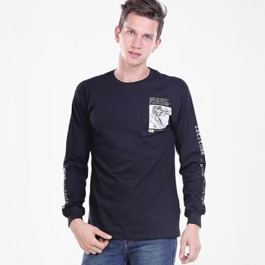 HRCN Map Men T-Shirt Kaos Distro Pria - Black [0108]