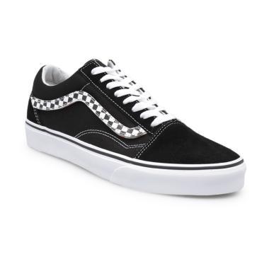 Vans UA Old Skool Sidestripe V Sepatu Pria - Black White