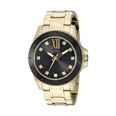 Guess U0721G2 Stainless Steel Strap Jam Tangan Pria - Black Gold