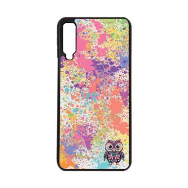 harga HEAVENCASE Motif Burung Owl Cute Paint Softcase Casing for Samsung A7 2018 - Hitam Blibli.com