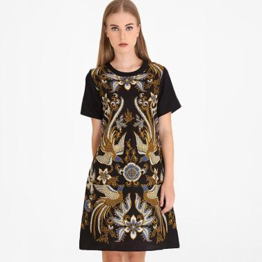 Rianty Novela Dress Batik Wanita Black