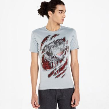 harga CoreNation Ultra Dry Skull Type B 45-04 Kaos Olahraga Pria - Light Grey Blibli.com