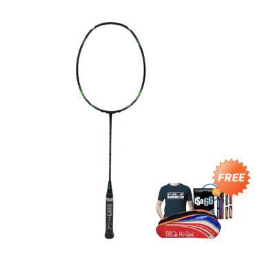 Hi-Qua Ultrasonic 800 Raket Badminton + Free Tas + Kaos + Senar + Grip