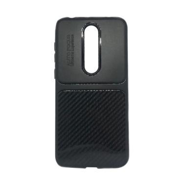 OEM Carbon Autofocus Softcase Casing for Nokia 6.1 Plus or X6 2018 - Hitam ca5cf11c95