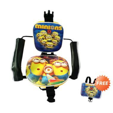 harga EXPRO Karakter Minion Kursi Boncengan Anak - Biru + Free Pelindung Dada Blibli.com