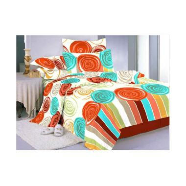 Belladona Drop Set Sprei - Orange [Sarung Bantal 4 pcs]