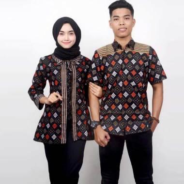 King Projo Motif Wajik Hitam Baju Batik Couple