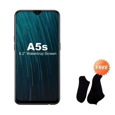 harga OPPO A5S Smartphone [32GB/3GB] + Free Kaos Kaki 7 Pasang Hitam Blibli.com