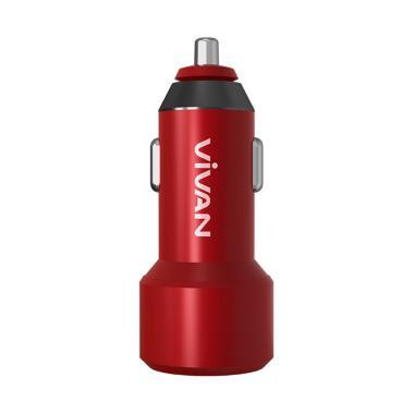 VIVAN CQ01S Car Charger - Red