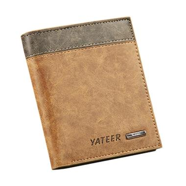 harga Yateer Men's Faux Leather Wallet ID Credit Card Holder Money Purse Clutch Pocket Gift 123-1 Vertical Blibli.com