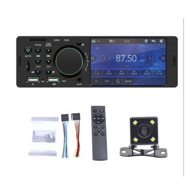 harga Bluelans 7805 Single Din Car FM Radio Bluetooth USB AUX Stereo Video MP5 Player with 4-LED Rear Camera [4.1 Inch] Blibli.com