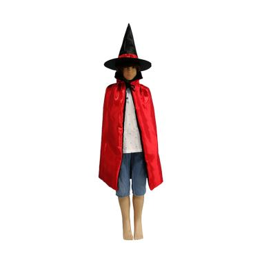 harga Bluelans Halloween Adult Kids Star Print Cape Cloak Hat Set Makeup Costume Party Supply Plain Blibli.com