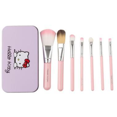 harga BRUSH KUAS Alat Make Up Makeup Brush set HELLO Kitty 7 Pcs pink Blibli.com