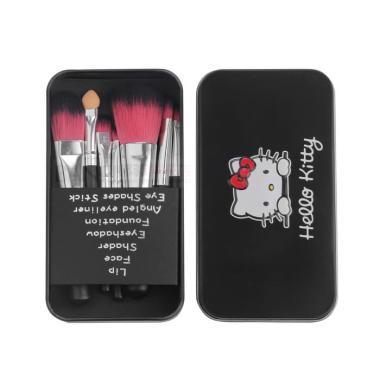 harga BRUSH KUAS Alat Make Up Makeup Brush set HELLO Kitty 7 Pcs BLACK Blibli.com