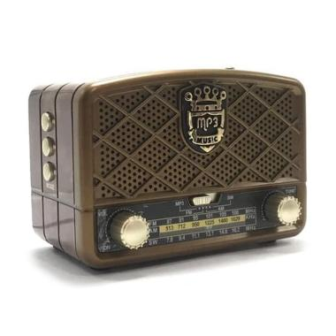 harga Meier-Audio USB AUX Micro SD Bluetood Vintage Radio [MP3/ FM/ AM] Blibli.com