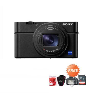 harga SONY RX100 VII Compact Camera + Free ScreenGuard + Cleaning Kit + Tas Kamera + Memori 16GB - Blibli.com